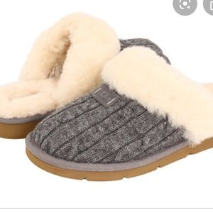 UGG grey knit slippers